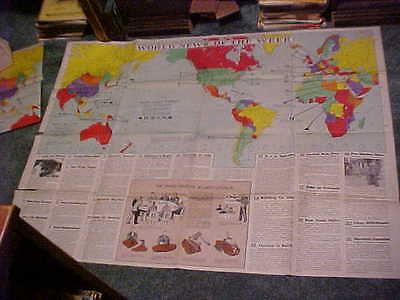 Lot Of 3 Large Educational 35 By 47 Maps April 1946 World News Map Of The Week