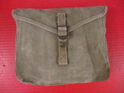 WWII Era US Army M1928 Haversack Meat Can or Mess Kit Pouch - Khaki - Nice #7