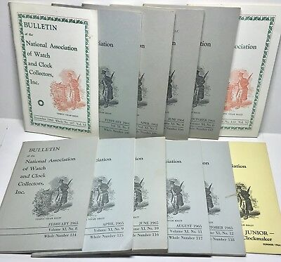 1963-1965 NAWCC Bulletin Near Complete Volume XI (11 of 12) + Supplement 2