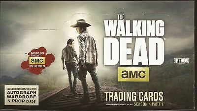 Cryptozoic The Walking Dead Season 4 Part 1 Box of 24 Packs Sketch autographs