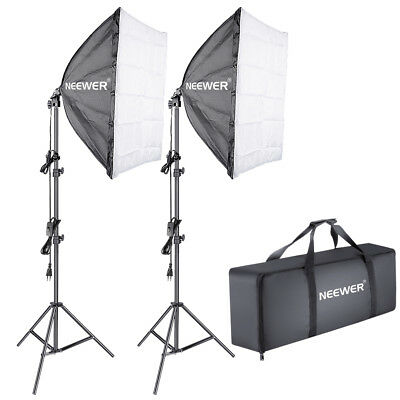 Neewer 700W (2*85w Lampe) 5500K Kit Eclairage Continu Softbox Studio Photo