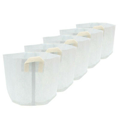 5x Nonwovens Plant Grow Bags Smart Pots Container White, 15 Gallon U2G3) YV