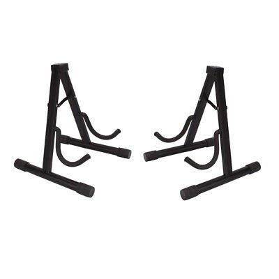 2 x Musician's Gear A-Frame Electric Guitar Stand Musical Accessories Black