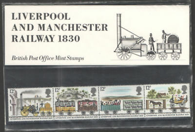GB 1980 Liverpool & Manchester Railway Presentation Pack VGC. Stamps
