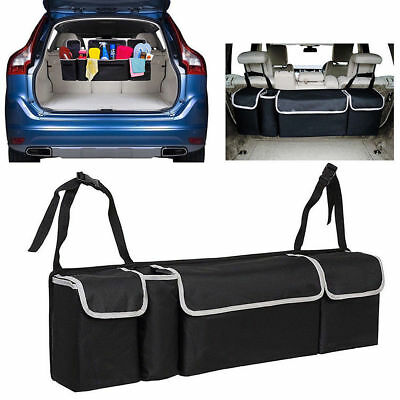 "35"" Black High Capacity Multi-use Car Seat Back Organizer Bag Interior Accessory"