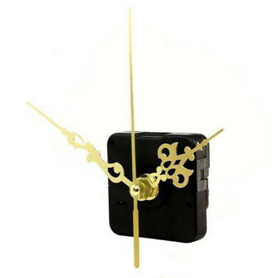 DIY Clock Quartz Movement Mechanism Gold and Black Hands Replacement Part Kit