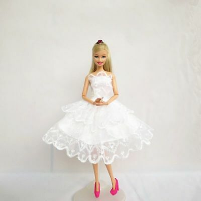Handmade Princess Party Dresses Clothe Outfit Gown for Barbie Doll kid Gift 5pcs