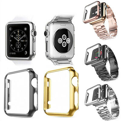 Slim Plated PC Hard Protective Case Cover For Apple Watch iWatch Series 1/2/3/4