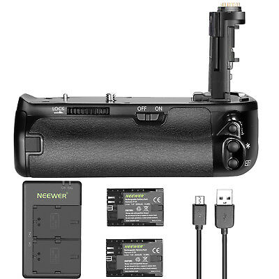 Neewer Battery Grip with Battery and Charger for Canon 6D Mark II DSLR Camera