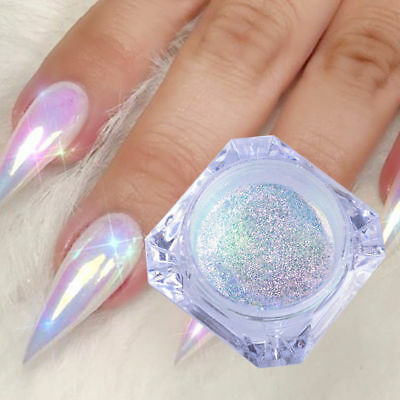Hot DIY Nail Art Pigment Glitter Mirror Mermaid Chrome Powder Dust Gel Polish