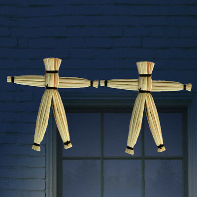 2pcs Close Up Magical Voodoo Doll Spooky Gimmick Straw Doll Trick Game Prop LG
