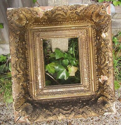 Old Antique Gilt & Plaster Decorative Chunky Picture Frame