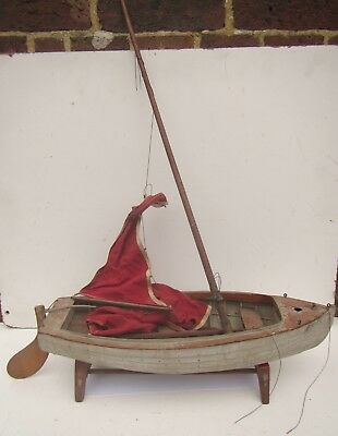 Old Wooden 'Chelee' Model Boat / Yacht - for restoration