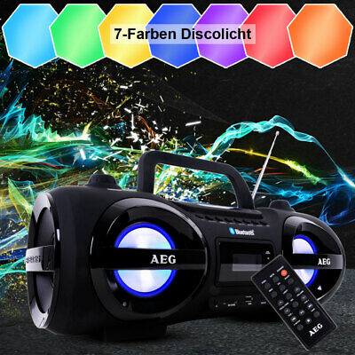 Stereo Ghettoblaster Stereo Radio CD MP3 USB Sd Aux Bluetooth Grande Luce
