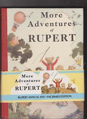 RUPERT ANNUAL 1937 FACSIMILE with wrap round band, numbered edition 1973 VG cond