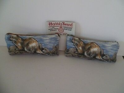 Pin Cushion Otter & Harris Tweed reverse in organza gift bag Size Small