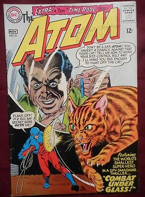 "The Atom #21 (1965, DC) Silver Age, upper mid-grade, ""Legends of Tomorrow"" hero"