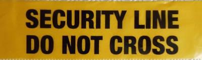 YELLOW WARNING TAPE safety SECURITY LINE DO NOT CROSS safety joke prank sign