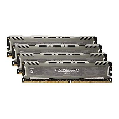 Ballistix Sport LT 64GB Kit (16GBx4) DDR4 2400 MT/s (PC4-19200) DIMM 288-Pin Mem
