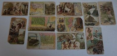 Lot of 9 Arbuckle Coffee Trading Cards States WI NJ AK HI MT SD