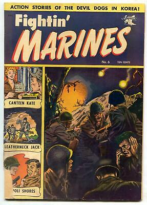 Fightin' Marines #6 1952-St John-Matt Baker-Canteen Kate- G