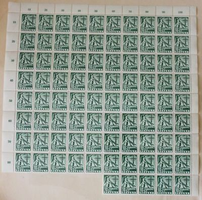 Lithuania 1940 SC 318 MNH block of 85 . LB152