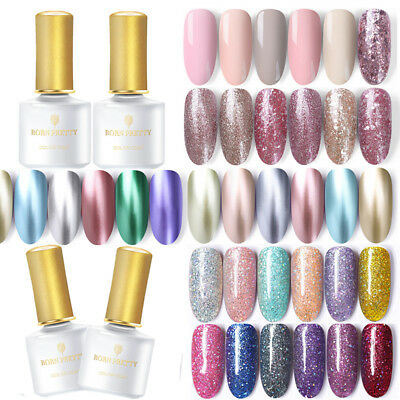 BORN PRETTY 6ml Nail Art UV Gel Esmalte de Uñas Lentejuelas Purpurina Gel Polish