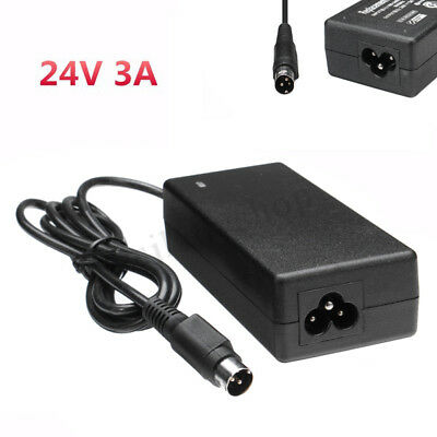 24V 3A DC 3 Pin Switching Power Supply Adapter Charger 100-240V AC Input