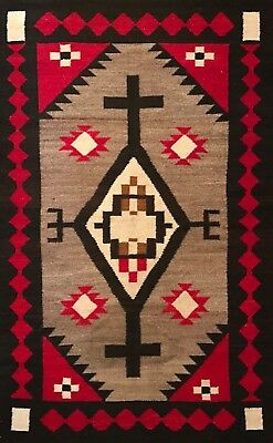 Exceptional J.B. MOORE PLATE XXI NAVAJO RUG,Original & Untouched Condition,c1920
