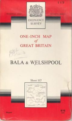 One-Inch Map of Great Britain Sheet 117 Bala And Welshpool : ANON