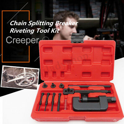 Motorcycle Bike Chain Splitter Breaker Riveting Tool Heavy Duty Link O-ring N9Y8