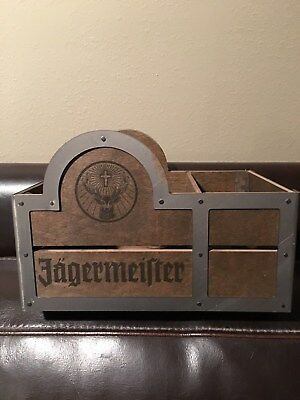 Jagermeister Jager Wood Napkin Straw Swizzle Stick Coasters Bar Caddy Holder