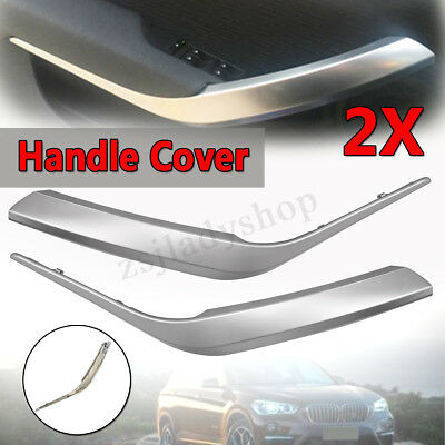 For BMW X1 E84 2010-16 Pair Chrome Side Inner Door Panel Handle Pull Trim Cover
