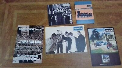 Collection of Oasis Promotional Flyers and Greeting Card From 1998