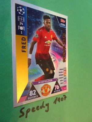 Topps Champions League 2018 2019 MEGA Signing Fred Manchester Match Attax #427