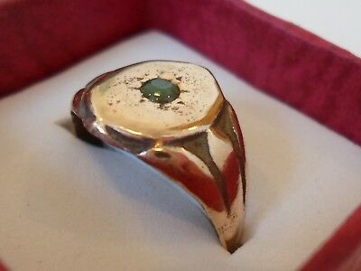 X-MAS OFFER,POLISHED,DETECTOR FIND, 18th/19th CENTURY AE RING WITH REAL EMERALD.