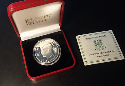 British Virgin Islands 2013 $10 Proof Sterling Silver Kennedy Commemorative Coin