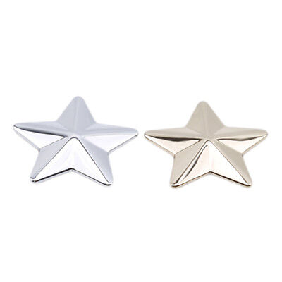 Silver/Gold Car Motorcycle 3D  Star Metal Alloy Sticker Emblem Badge Decal S
