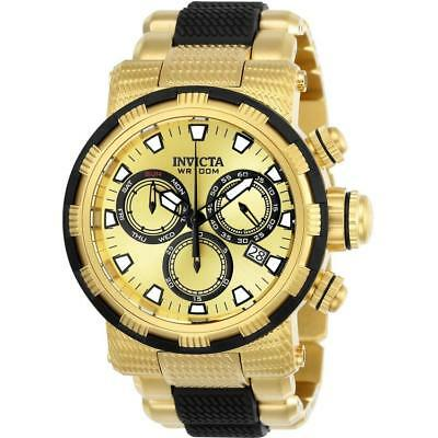 Invicta Specialty 23978 Men's Round Gold Gold Tone Chronograph Date Analog Watch