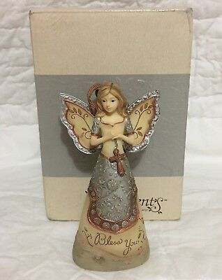 Elements Bless You Angel Ornament by Pavilion 4-1/2-Inch New In Box 2009 82192
