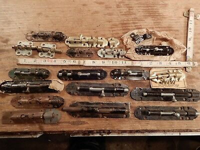 antique door bolt vintage deadbolt slide latch lock cupboard furniture hardware