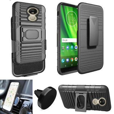 Phone Case For TracFone Motorola G6 XT Holster Cover Stand Magnetic Car Mount