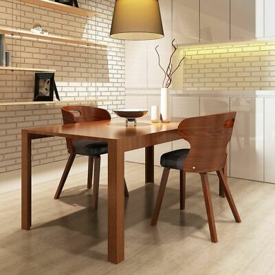 Set of 2 Dining Chairs with Cut-out Bentwood Backrest