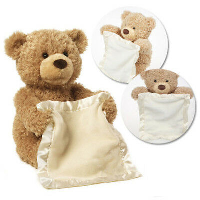 Peek-A-Boo Teddy Bear Plush Interactive Soft Toy 30CM For Childs Christmas Gifts