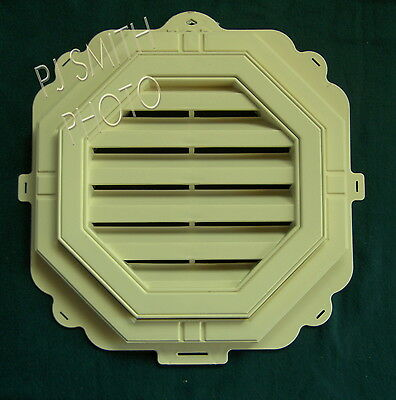 "New 18"" Economy Octagon Sunny Maize / Maize  Gable Wall Vent"