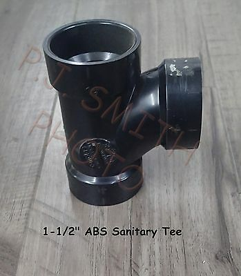 "ABS 1-1/2""  Sanitary Tee  Schedule 40  Made in U.S.A."