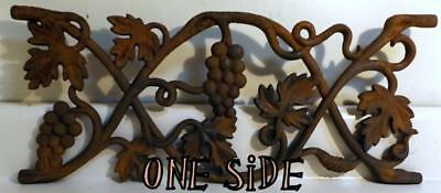 "Antique Victorian 8½x20"" Cast Iron Widow's Walk Grape Vine Fence/Grate c1800s"