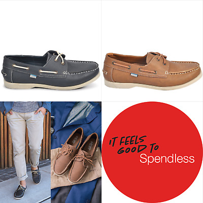 Deck | Olympus | Mens casual boat shoe laced slip on