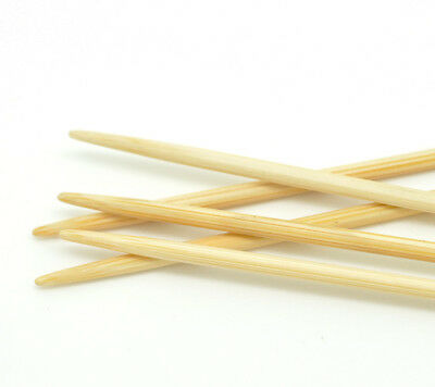 Needlecrafts Bamboo Double Pointed Knitting Needles 2.5mm 20cm long 5 PCs