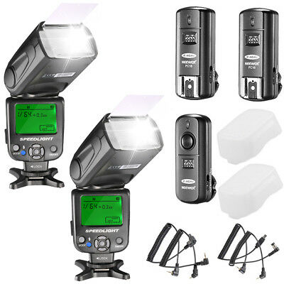 Neewer Kit de 2 NW620 Flash Speedlite Manual  cámaras DSLR
